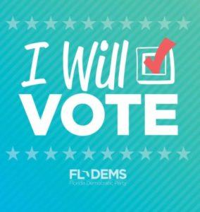 I Will Vote sign