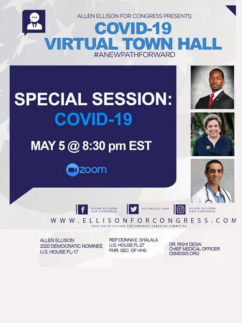 Allen Ellison COVID 19 Virtual Town Hall Invitation