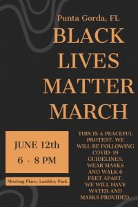 poster of black lives march