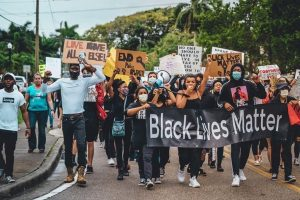 Picture of Black Lives Matter march held in Punta Gorda on June 5. Image provided by Carson McNamara.