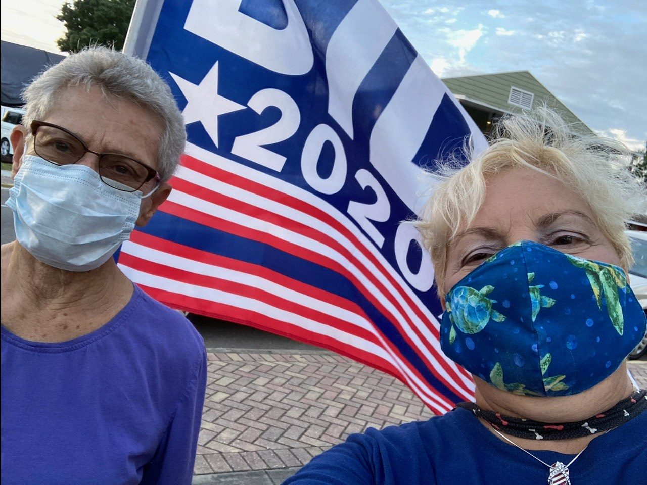 Anna and Gudrun - poll watchers