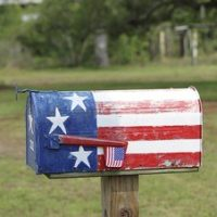 mailbox with stars and stripes
